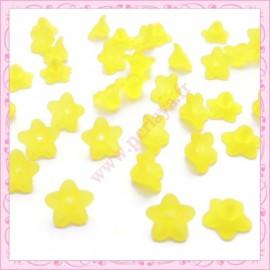 lot de 50 fleurs lucite en acrylique jaune