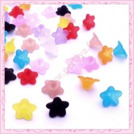 Mix de 50 fleurs lucite en acrylique