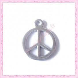 5 breloques Peace argenté
