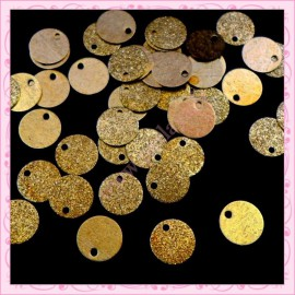 Lot de 50 sequins bronze en métal de 2cm