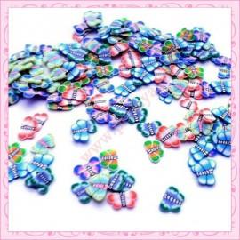 Mix 200 tranches fimo Papillon