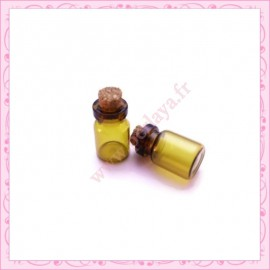 5 fioles marron en verre 0.7ml