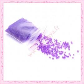 10 grs de micro-billes transparente violette