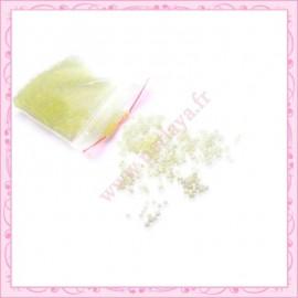 20g de micro-billes en verre transparente jaune 1.5mm