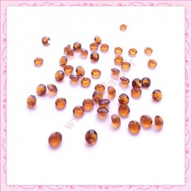 100 strass en acrylique 4,5mm marron