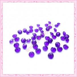 50 strass en acrylique 4,5mm violet