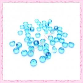 50 strass en acrylique 4,5mm bleu