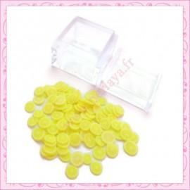 3 boites tranches fimo citron 4mm