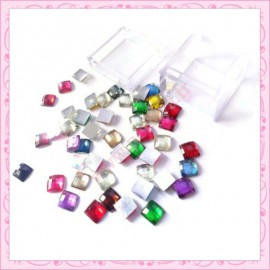 Mix strass cube 6mm