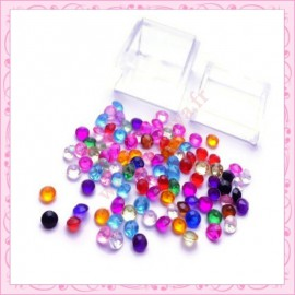 3 boites mix de strass 4mm