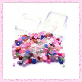 3 boites mix de cabochons 2mm et 4mm