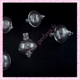 5 Globes gouttes en verre de 32mm
