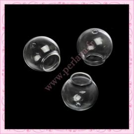 5 Globes en verre rond de 25mm