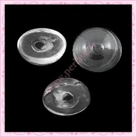 1 globe plat en forme de dôme en verre de 27mm
