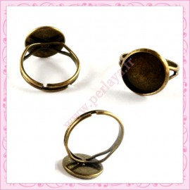 Lot de 5 bagues globe bronze 12mm