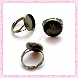 Lot de 5 bagues globe bronze 15mm
