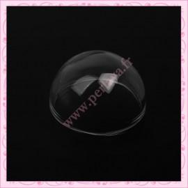 1 globe forme de dôme en verre de 24mm