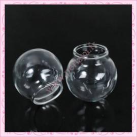 5 Globes en verre rond double trou de 30mm