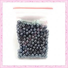 Lot de 200 perles nacrées en verre hématite 4mm