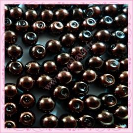 Lot de 200 perles nacrées en verre gris 6mm