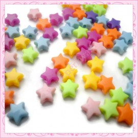 Mix de 50 étoiles acrylic 6mm