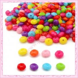 Lot de 300 perles briolettes facettés en acrylique 10mm