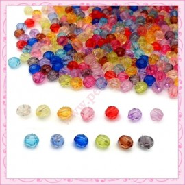 Lot de 300 perles rondes en acrylique 8mm