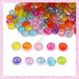 Lot de 300 perles cubes facettés en acrylique 8mm
