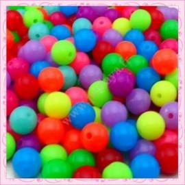 Lot de 200 perles rondes en acrylique 10mm