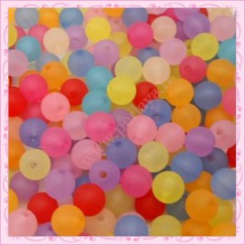 Lot de 1000 perles rondes en acrylique 6mm