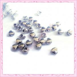 lot de 50 mini coeur en métal argenté
