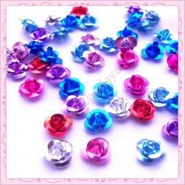 Mix de 50 petites roses en aluminium