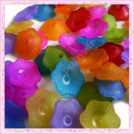 Extra prix : Mix de 50 fleurs lucite en acrylique