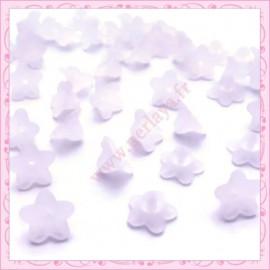 lot de 50 fleurs lucite en acrylique blanche