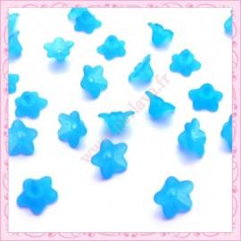 150 fleurs lucite en acrylique bleu