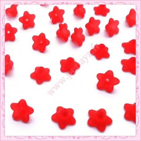 150 fleurs lucite en acrylique rouge