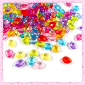 Mixte de 500 perles gouttes en acrylic 10mm