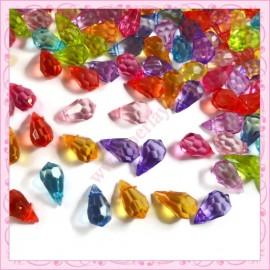 Mixte de 300 perles gouttes en acrylic 15mm