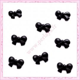 Lot de 10 cabochons en résine noeud noir 1,5cm REF2044X10