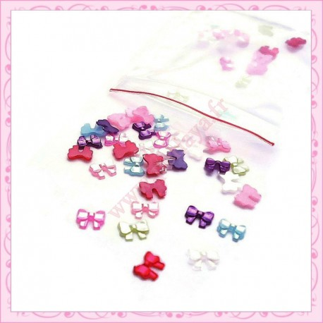 400 minis cabochons noeuds 5mm