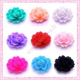 lot de 9 cabochons fleurs 18mm