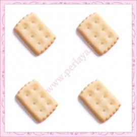 Lot de 3 cabochons biscuit en résine 1,9cm