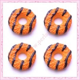 Lot de 3 cabochons en résine biscuit 1,9cm