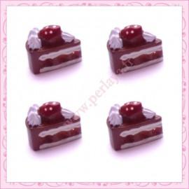 Lot de 3 cabochons en résine gateau au chocolat 1,3cm