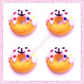 Lot de 3 cabochons en résine donuts kawaii 2,2cm