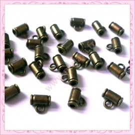 50 attaches breloques bronze 8mm