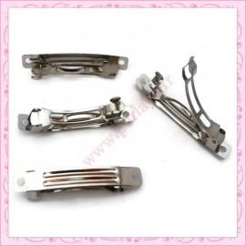 Lot de 30 supports pour barrettes argentés foncés 7cm - 5.7cm - 5cm