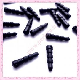 80 plugs anti-poussière noir en plastique 17mm