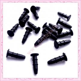 80 plugs noir plat anti-poussière