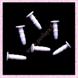 80 plugs blanc plat anti-poussière